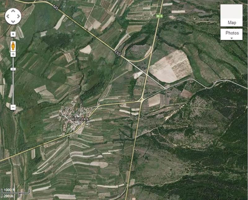 Селото Козјак и околината